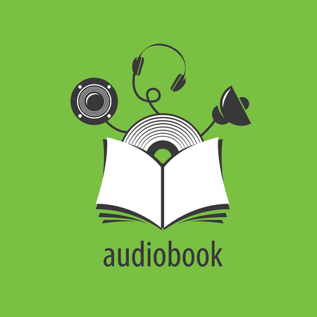 audiobook: Abstract pattern audiobooks logo. Illustration vector icon Illustration