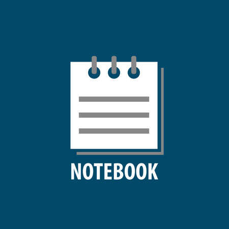 notebook: notebook. Illustration notepad