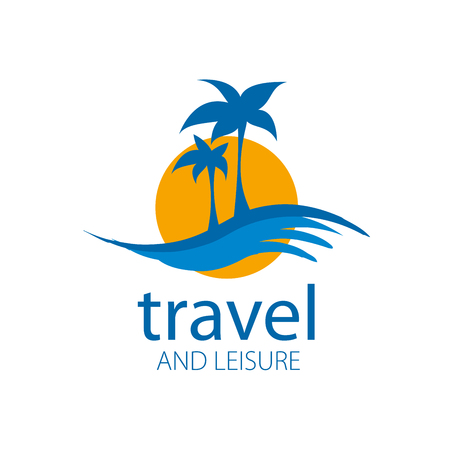 tree silhouettes: logo template for travel and leisure. Vector illustration