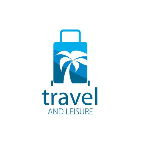 logotipo turismo: logotipo de la plantilla para los viajes y el ocio. ilustración vectorial