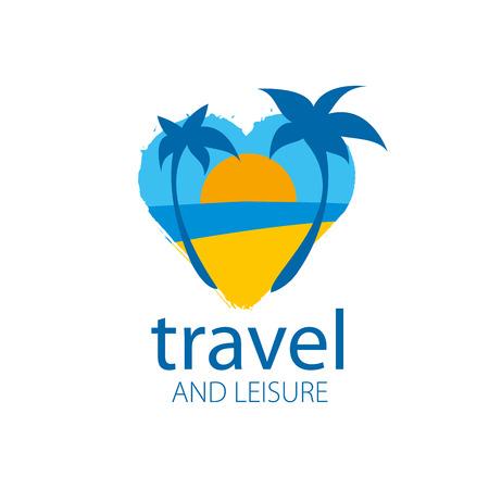 Logo-Vorlage für Reisen und Freizeit. Vektor-Illustration