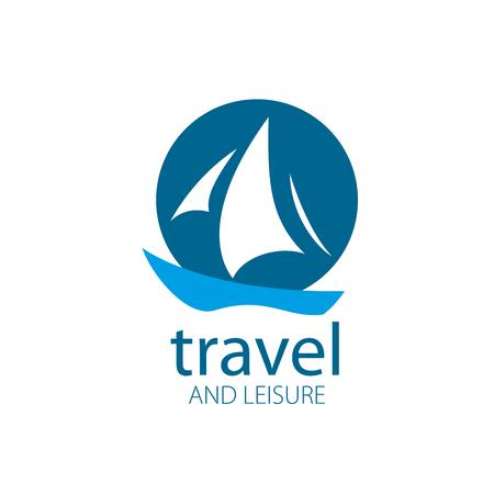 Template Vector Yacht logo. Illustration for travel and leisure Ilustração