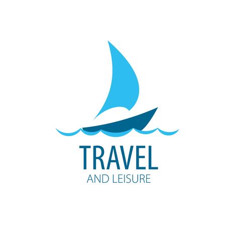 logotipo de la plantilla del yate del vector. Ilustración para el recorrido y el ocio Logos