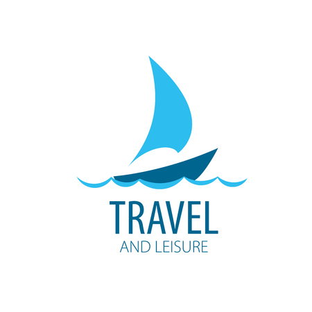 Template Vector Yacht logo. Illustration for travel and leisure Иллюстрация