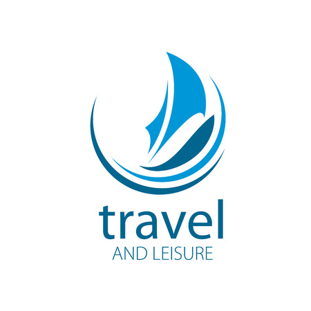 Template Vector Yacht logo. Illustration for travel and leisure Illusztráció