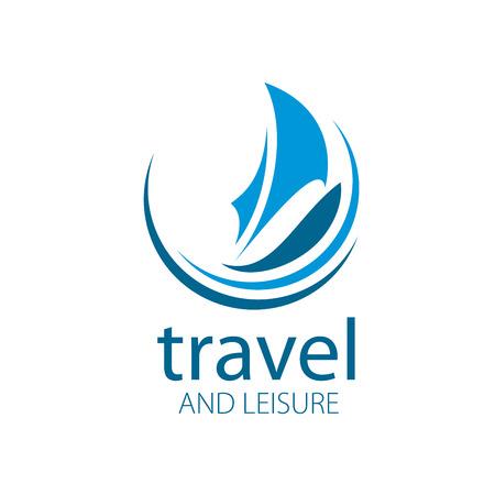 bateau voile: Template Vector Yacht logo. Illustration pour Voyage et loisirs Illustration