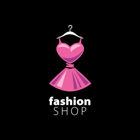 vector logo clothing. Illustration dress on a hanger