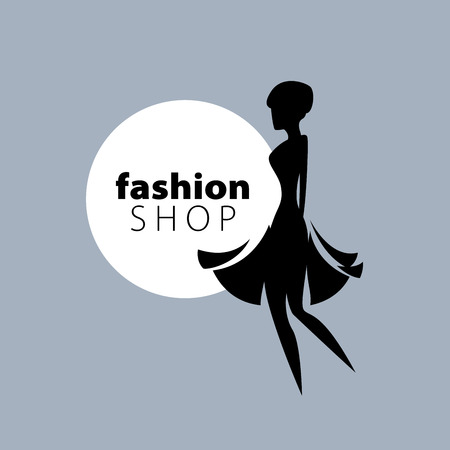 womens fashion: vector logo for womens fashion. Illustration of girl Illustration