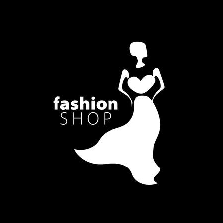 womens fashion: vector logo for womens fashion. Illustration of girl Illustration