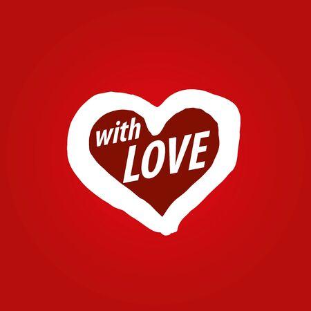declaration of love: Pattern abstract vector heart. Declaration of love
