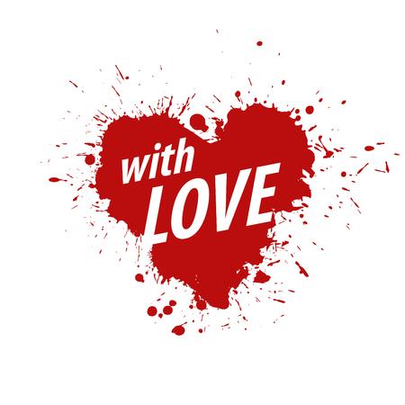 declaration of love: Pattern abstract vector heart logo. Declaration of love