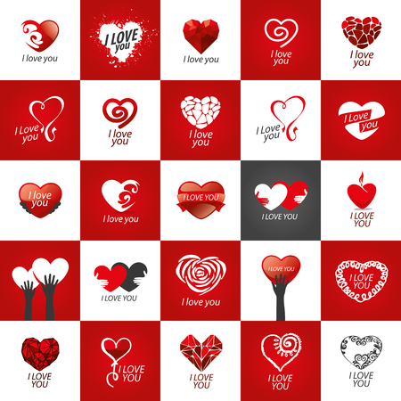 declaration of love: Pattern abstract vector heart . Declaration of love Illustration