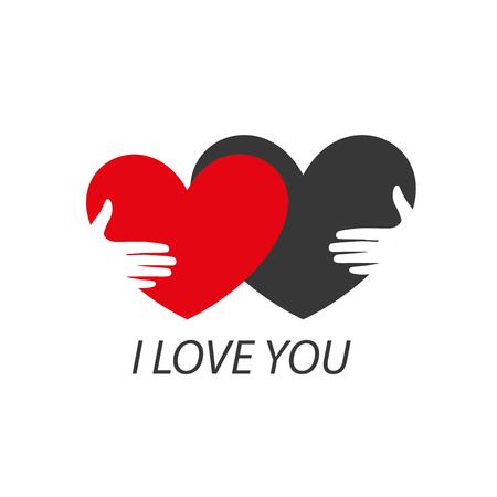 heart icon: Pattern abstract vector heart . Declaration of love Illustration