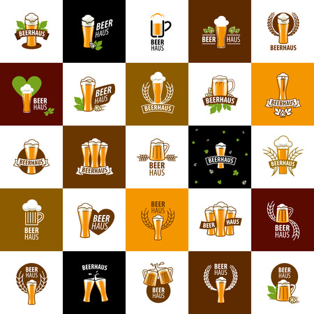 brewing house: vector template beer glass. Vector illustration