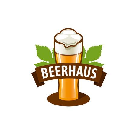 craftsperson: vector template beer glass. Vector illustration