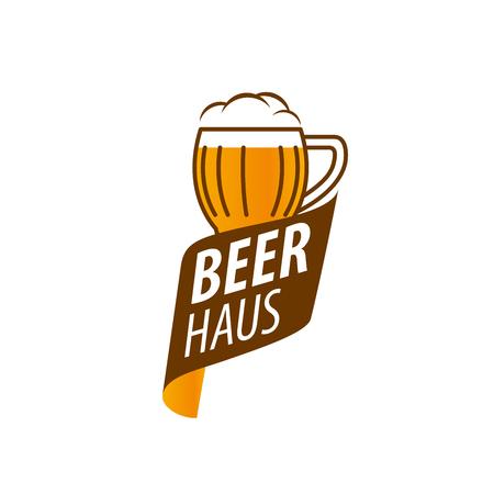 craftsperson: vector template   beer glass. Vector illustration Illustration