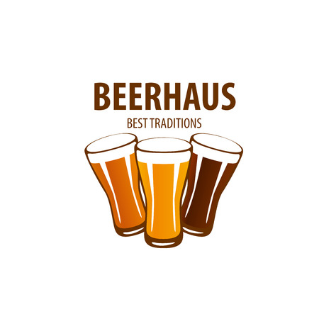 glassful: vector template beer glass. Vector illustration