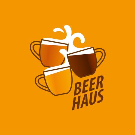 vector template   beer glass. Vector illustration Illustration