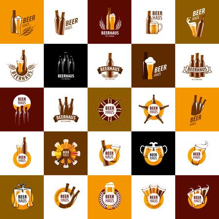 la plantilla de vectores vidrio logotipo de la cerveza. ilustración vectorial