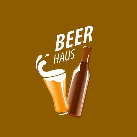 artisan: vector template logo beer glass. Vector illustration