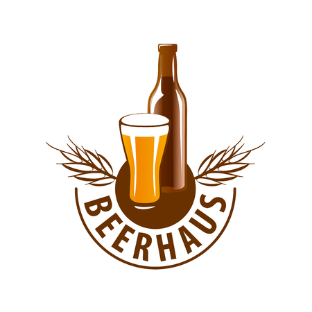 vector template logo beer glass. Vector illustration