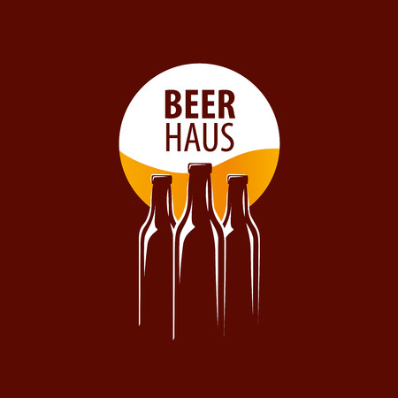 glassful: vector template logo beer glass. Vector illustration