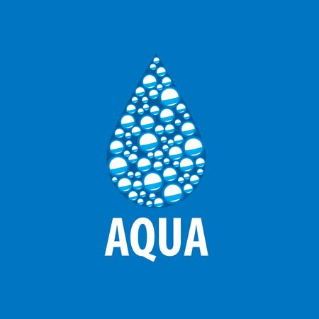 clean water: abstract logo template for water. Vector illustration