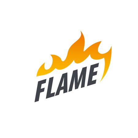 template fire. Vector illustration of a flame