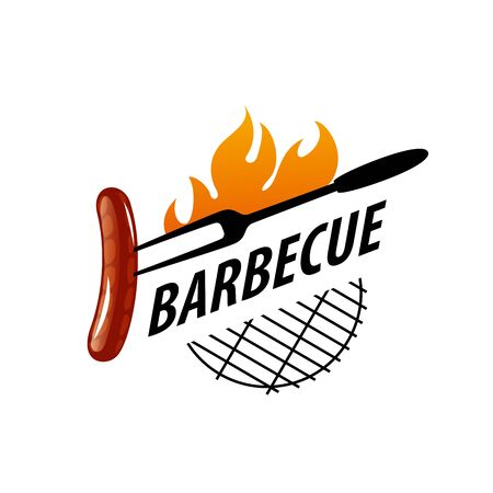 design template for a barbecue. Vector illustration