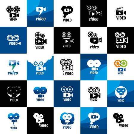 video camera logo design template. Vector illustration