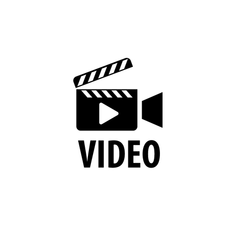 video camera logo design template. Vector illustration