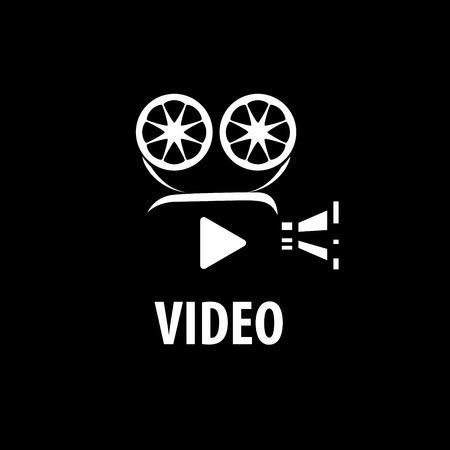 Videokamera-Logo-Design-Vorlage. Vektor-Illustration