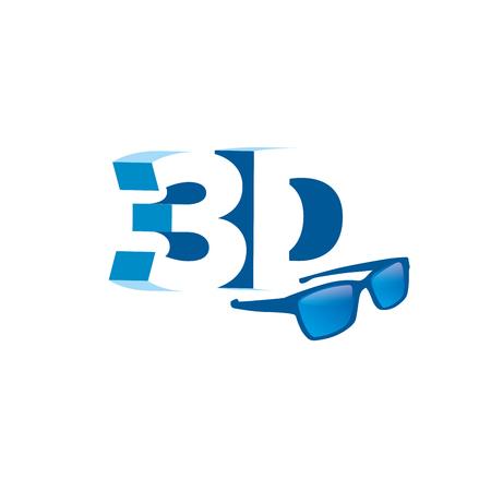 stereoscopic: 3d design template. Vector illustration of icon Illustration