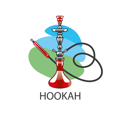 shisha: design template hookah. Vector illustration of icon