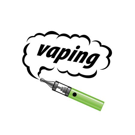 electronic cigarette: logo design pattern of the electronic cigarette. Vector illustration