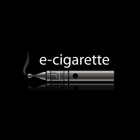electronic: design pattern of the electronic cigarette. Vector illustration