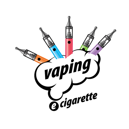 design pattern of the electronic cigarette. Vector illustration