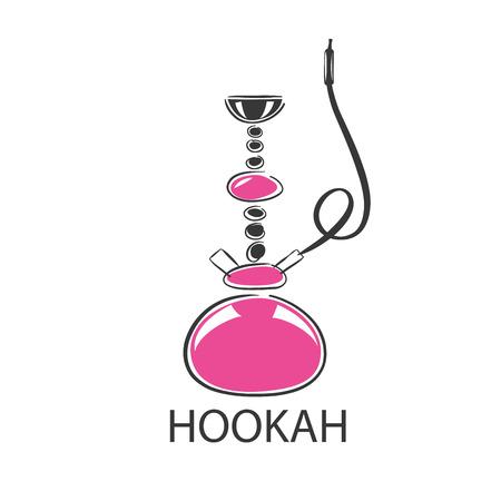 hookah: design template hookah. Vector illustration of icon
