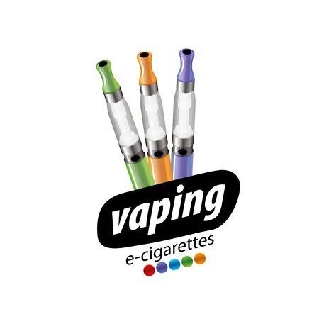 logo design pattern of the electronic cigarette. Vector illustration