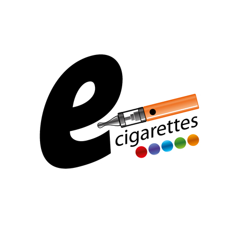 electronic cigarette: design pattern of the electronic cigarette. Vector illustration