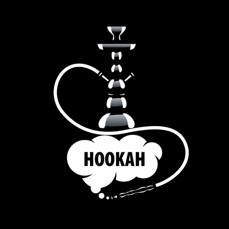 design template hookah. Vector illustration of icon