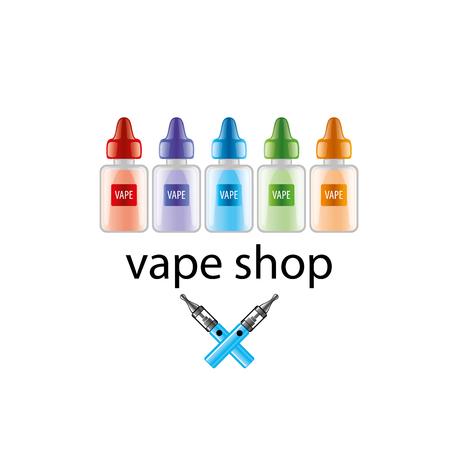vials: liquids in vials to store the electronic cigarette. Vector illustration