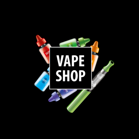 e cigarette: liquids in vials to store the electronic cigarette. Vector illustration