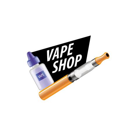 phial: electronic cigarette. Vector illustration