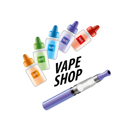 e shop: electronic cigarette. Vector illustration
