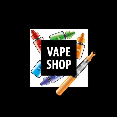electronic: electronic cigarette. Vector illustration