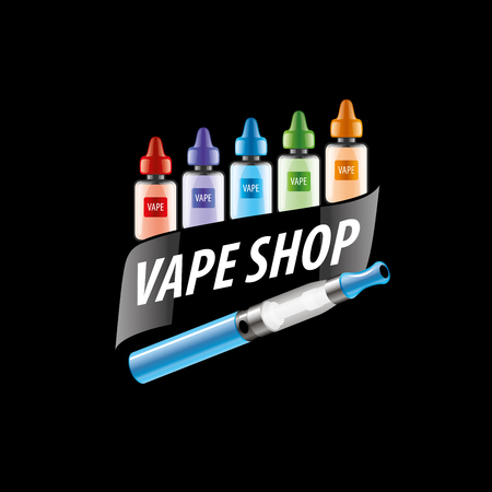 electronic: electronic cigarette. Vector illustration