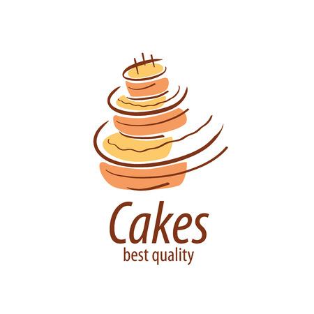 Modello di design della torta. Illustrazione vettoriale di icona Vettoriali