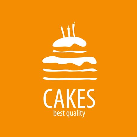 Cake   design template. Vector illustration of icon