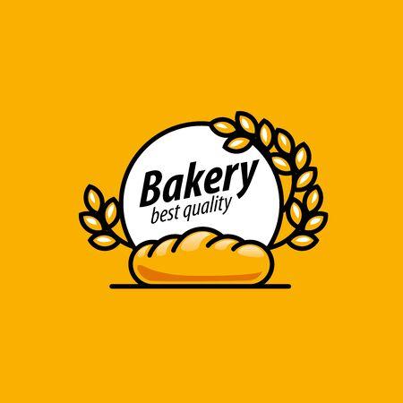 spica: design template bread. Vector illustration of icon